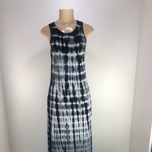NWOT Karen Kane Maxi Dress, Med, gray, Blk, Wht